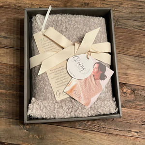 Demdaco Taupe Giving Shawl New In Box